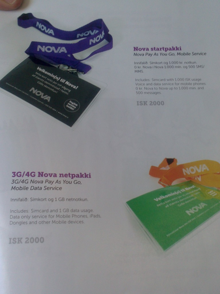 Precios 3G Islandia
