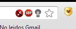 """Bloquear Flash en Chrome, Notar la """"barra"""" indicando que Flash está prohibido."""