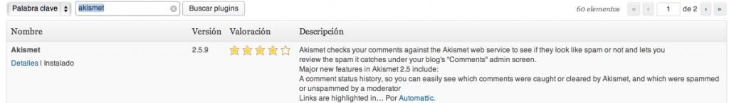 Akismet Pluging WordPress
